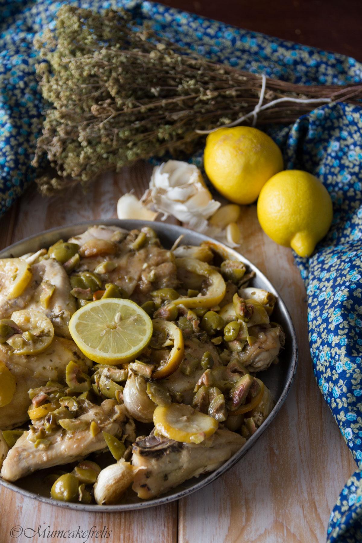 pollo con olive verdi e limone