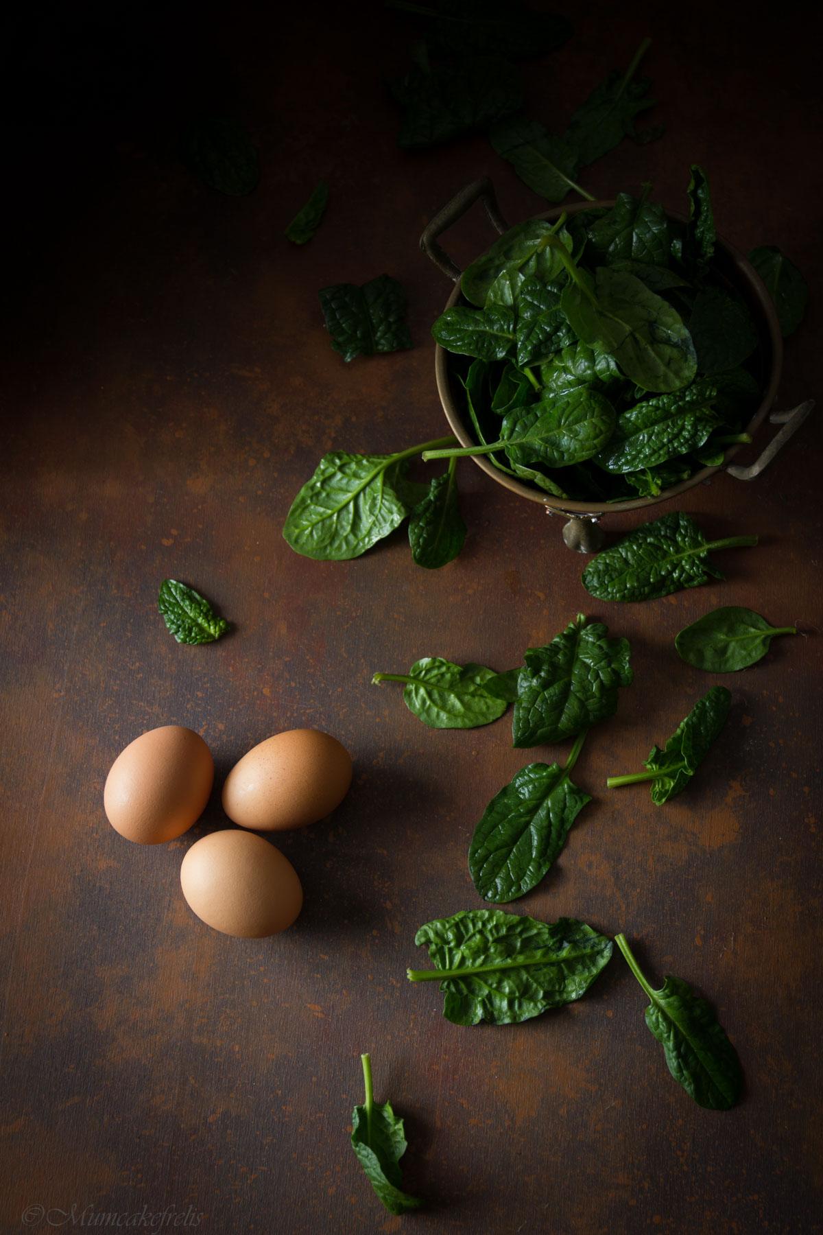 frittata spinaci crudi