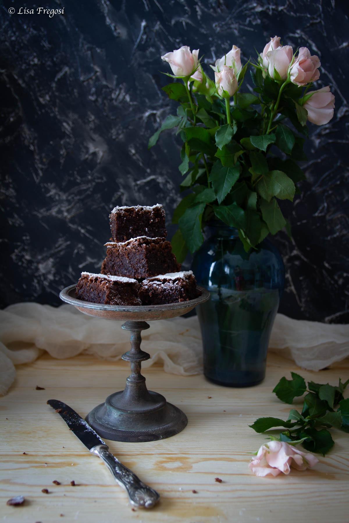 La ricetta della caprese al cioccolato con cioccolato fuso