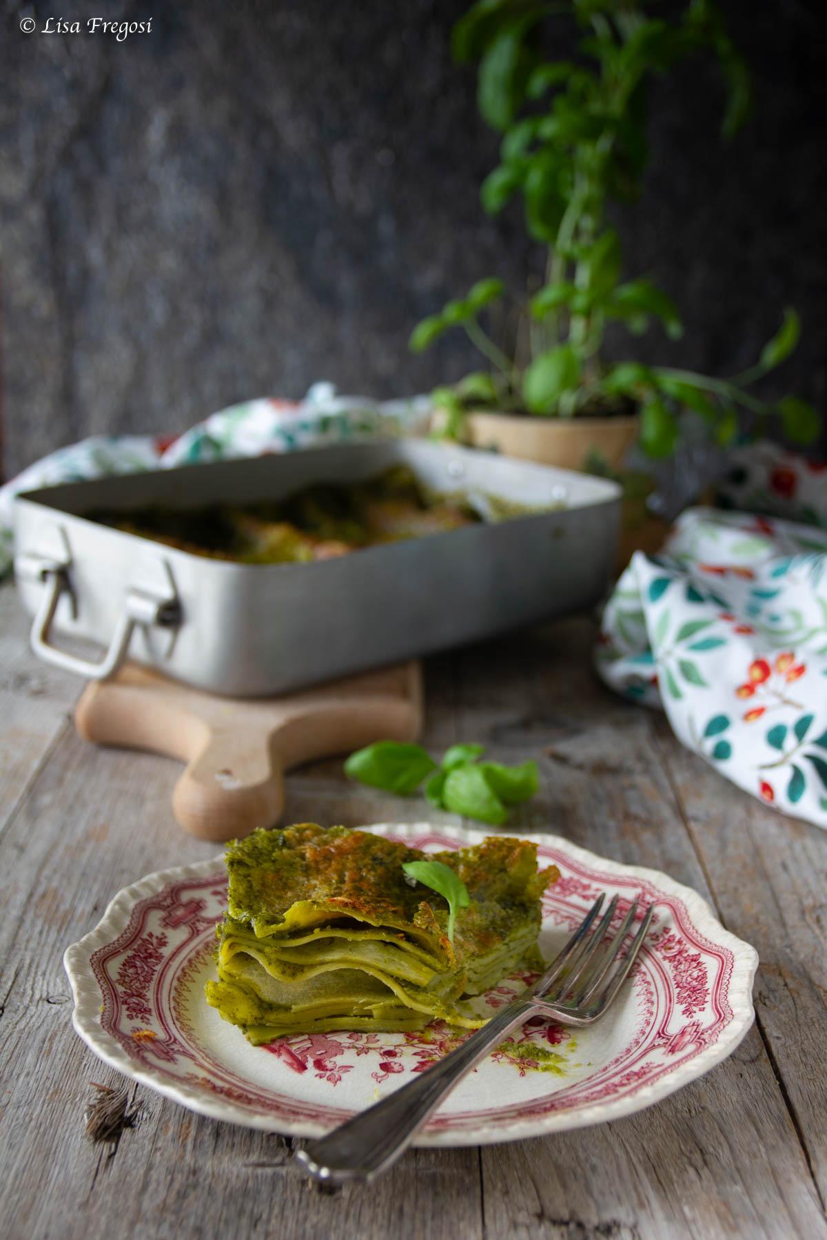 lasagna al pesto ricetta