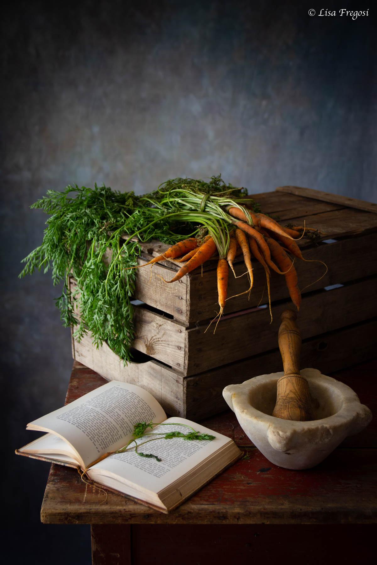 ciuffi di carote e clorofilla