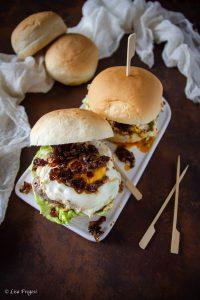 hamburger con marmellata di bacon