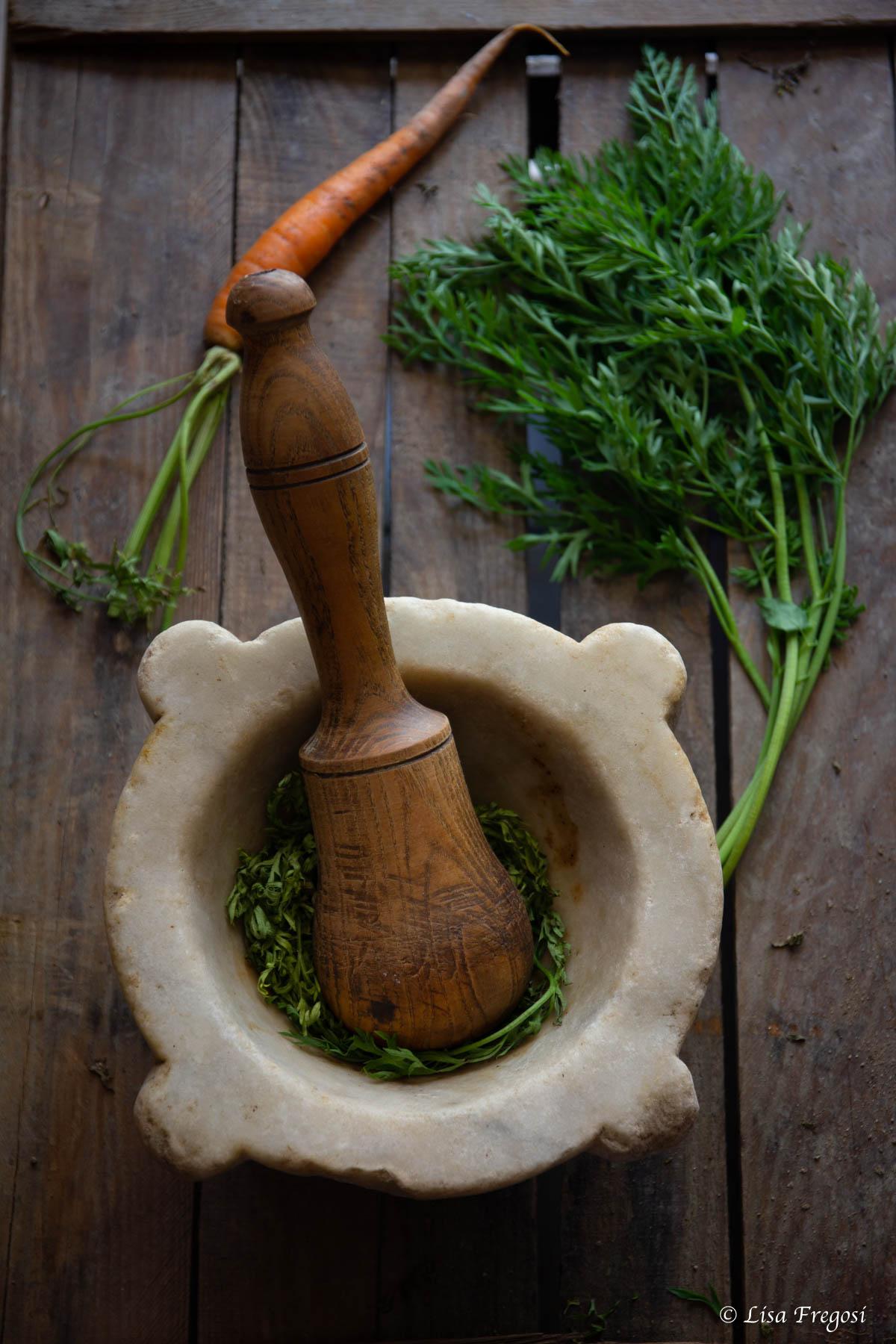 ricetta del pesto carote ciuffo