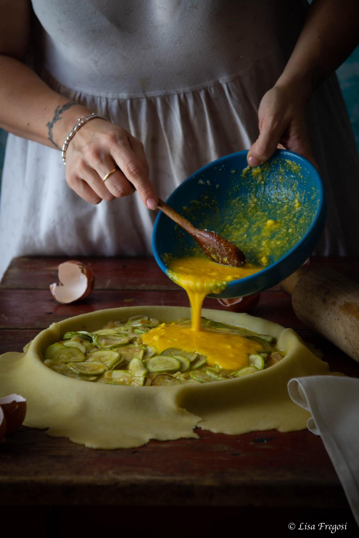 torta salata di zucchine fatta in casa