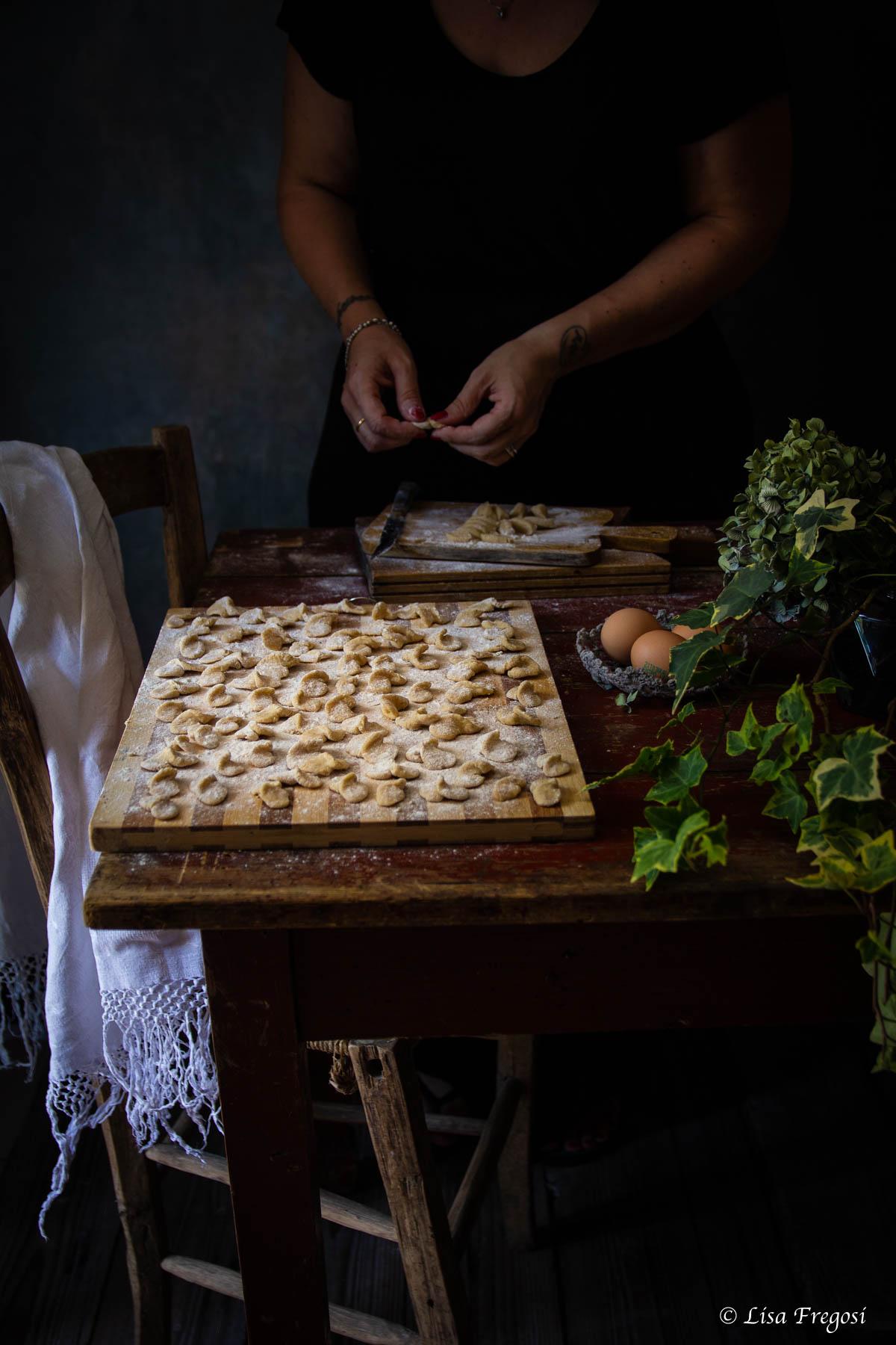 croxetti o Corzetti avvantaggiati con fagiolini e pomodorini