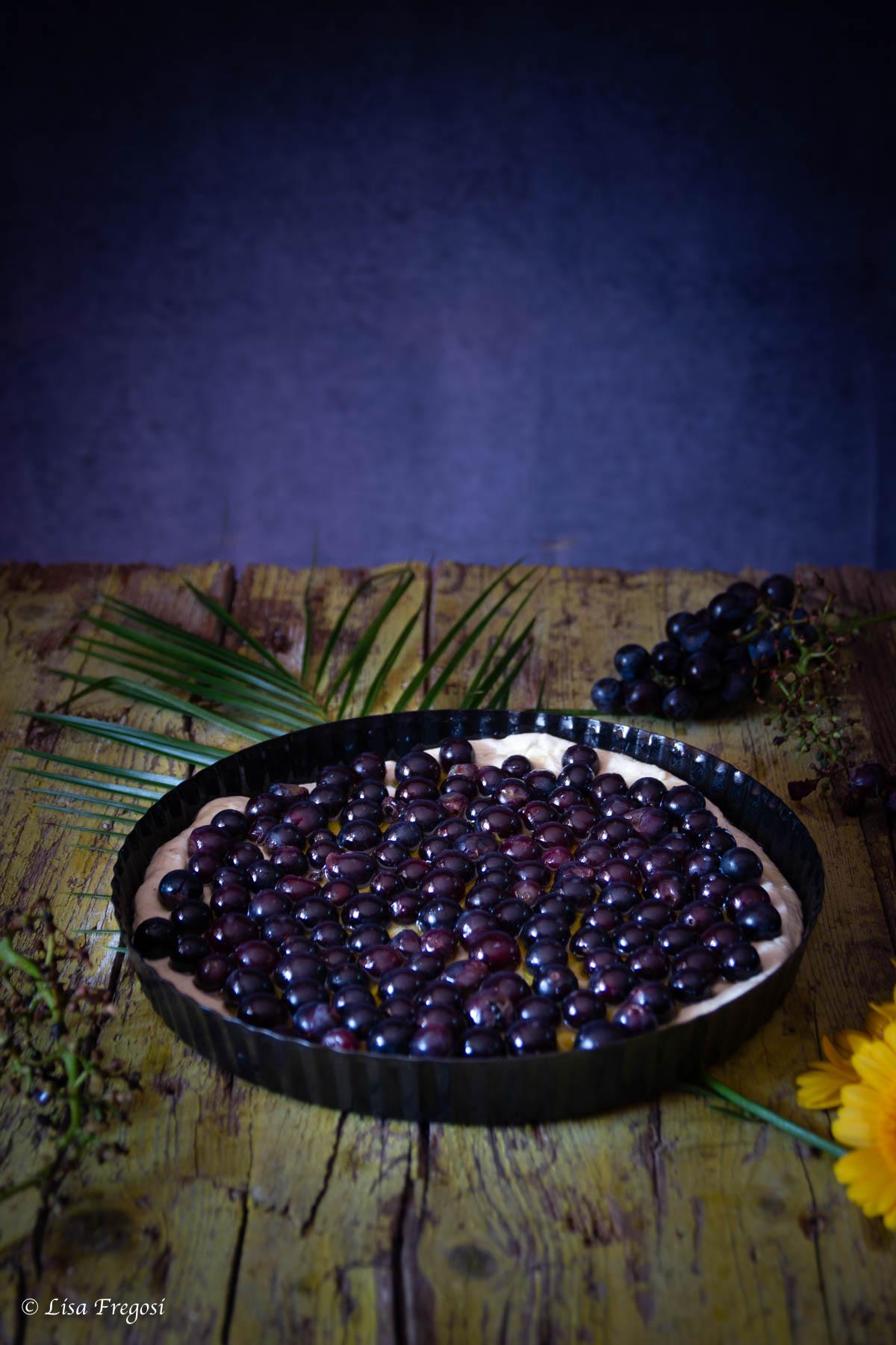 come fare la schiacciata ciaccia Toscana con uva canaiola
