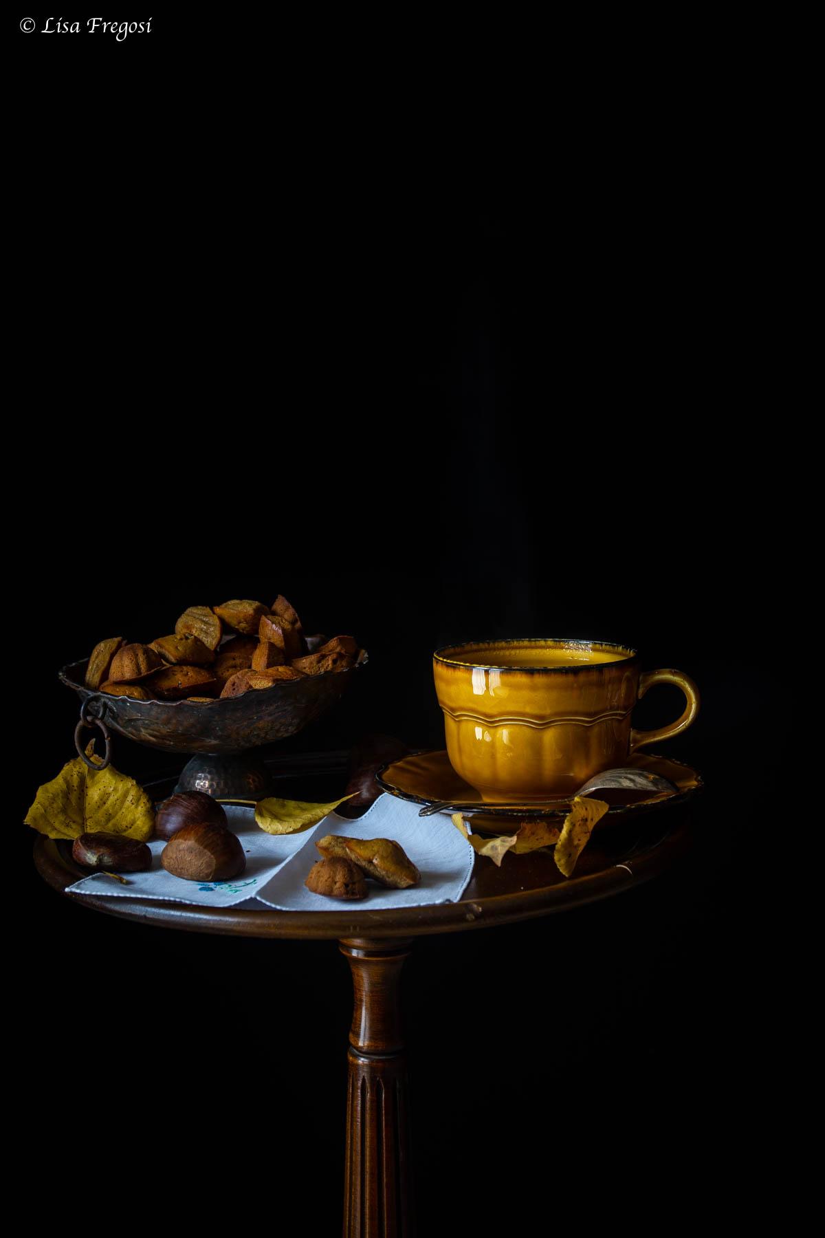 madeleine con farina di castagne e abbinamento con il tè giusto