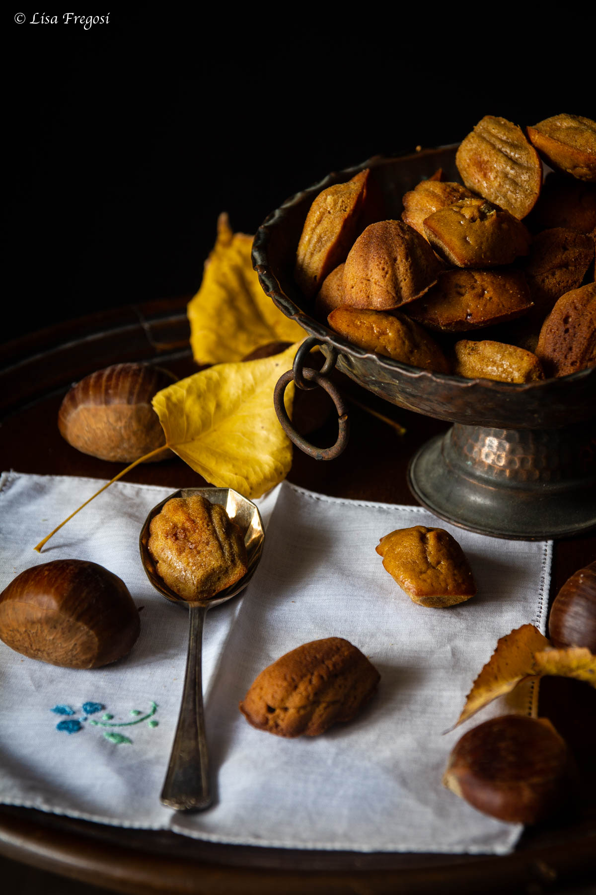 madeleine di farina di castagne