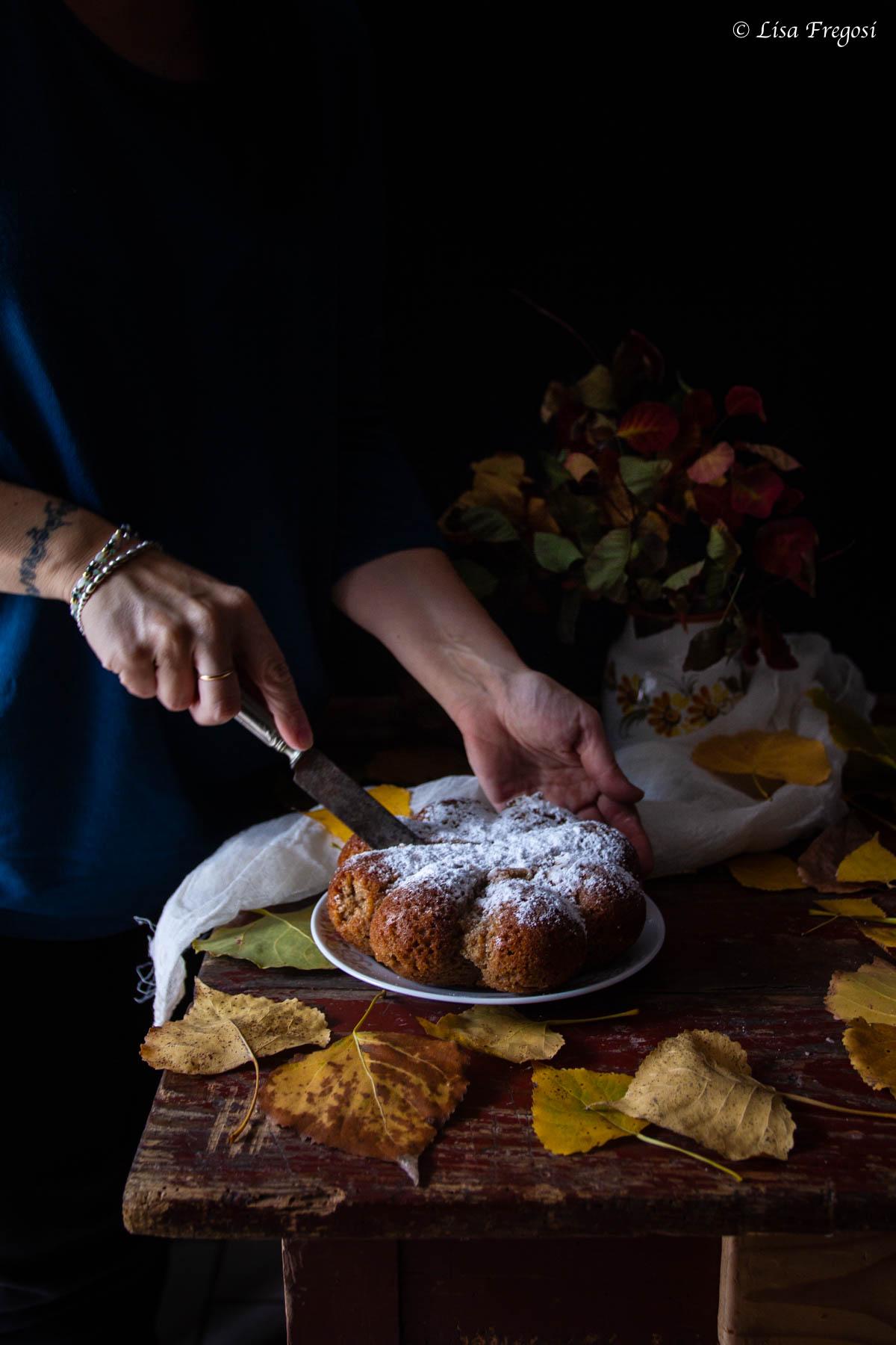 torta con panna nell'impasto