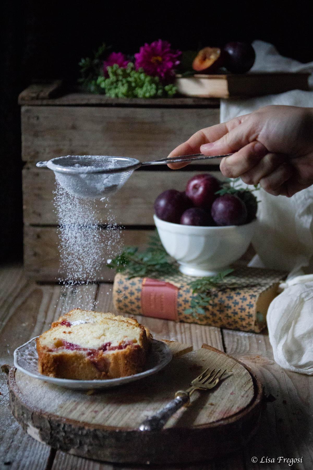 la ricetta del plumcake alle susine rosse