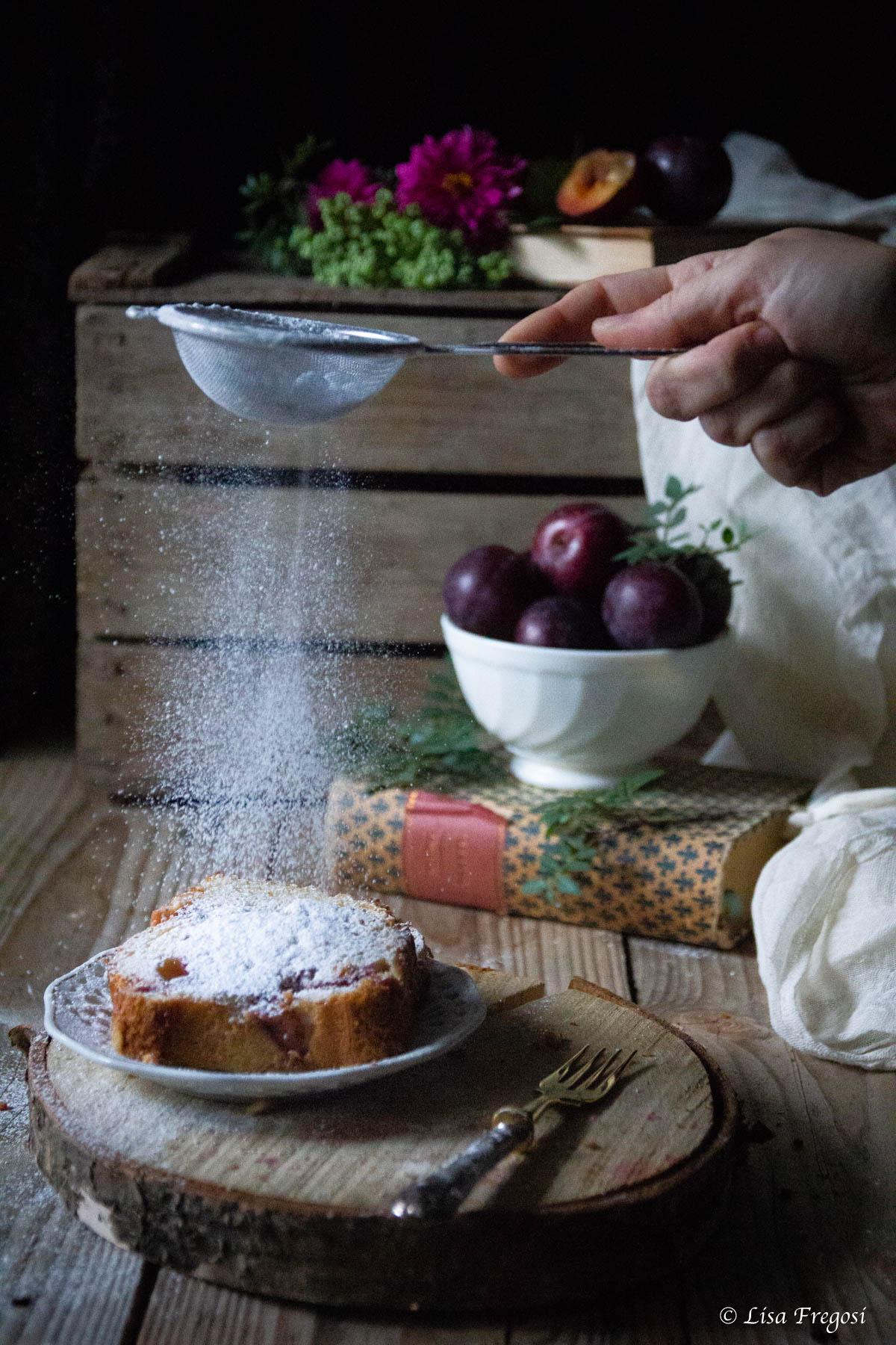 plumcake alle susine rosse