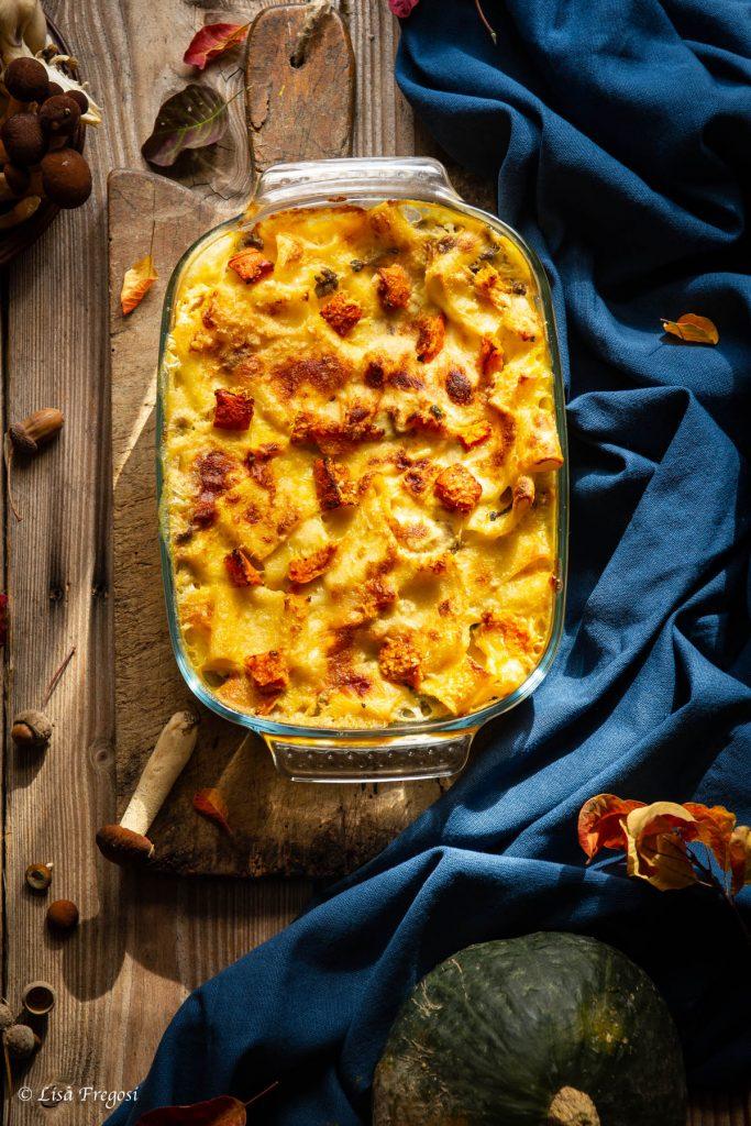 ricetta della pasta con zucca al forno
