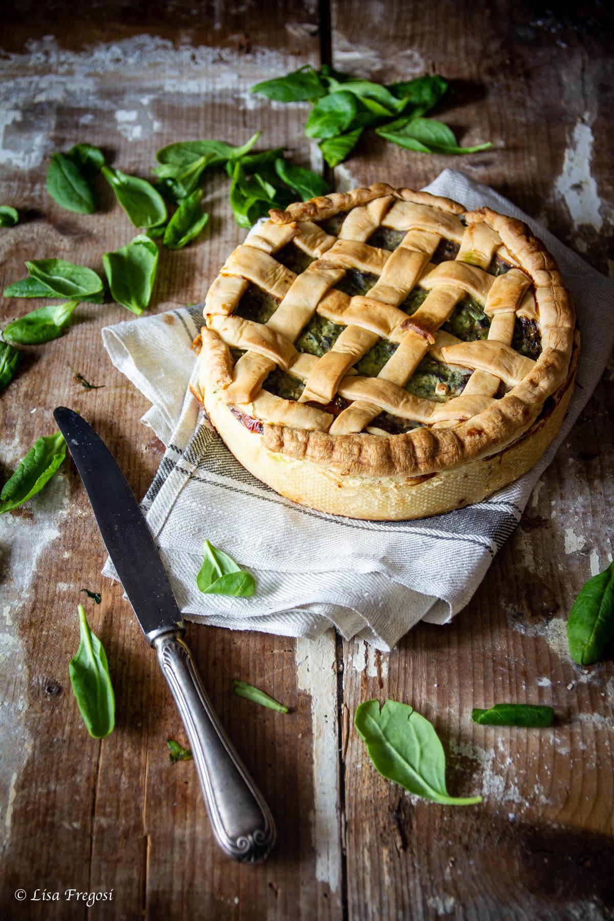 la ricetta della come fare la torta salata con spinaci, ricotta e uova