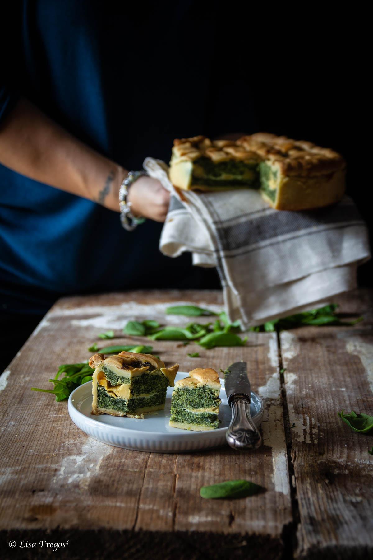 come fare la la torta salata con spinaci, ricotta e uova