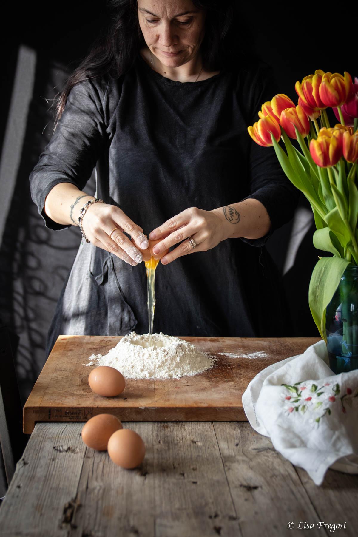 la ricetta dei bigoli all'uovo