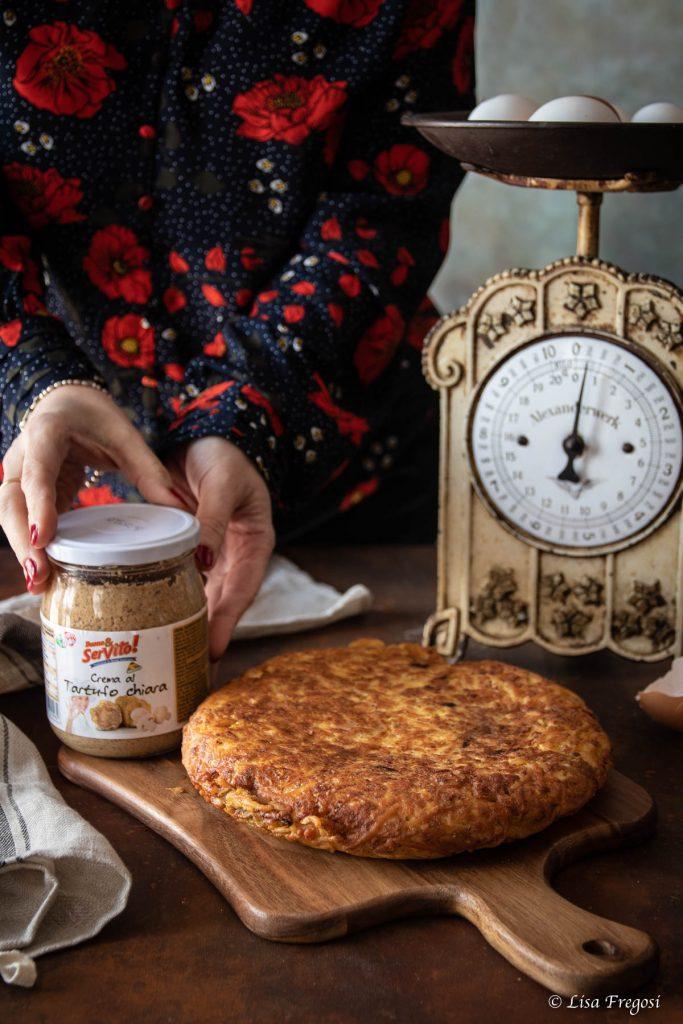 ricetta della frittata di pasta senza glutine con crema al tartufo