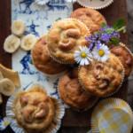 muffin alla banana e noci macadam