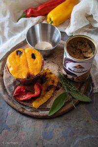 timballo di cernia, peperoni e crema di melanzane passo a passo