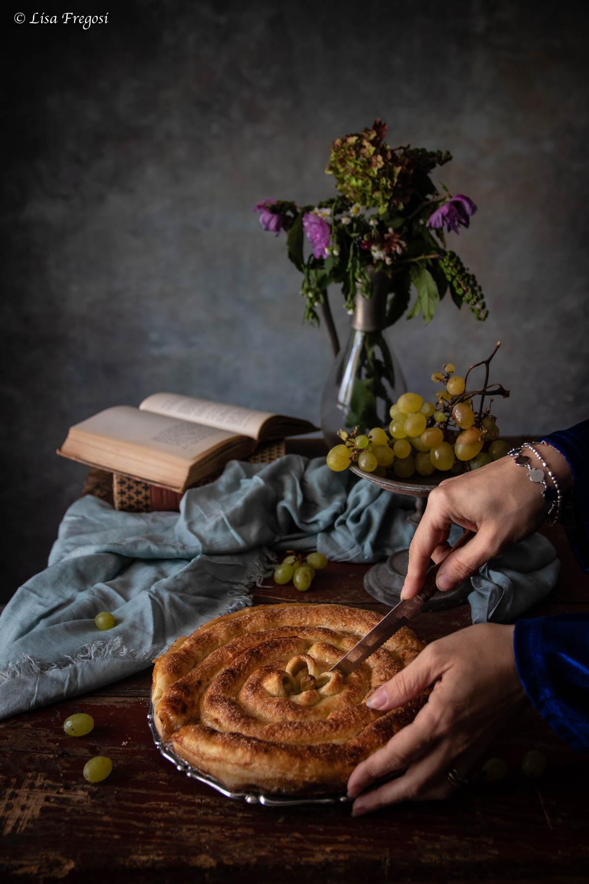 ricetta della torta veloce con uva bianca
