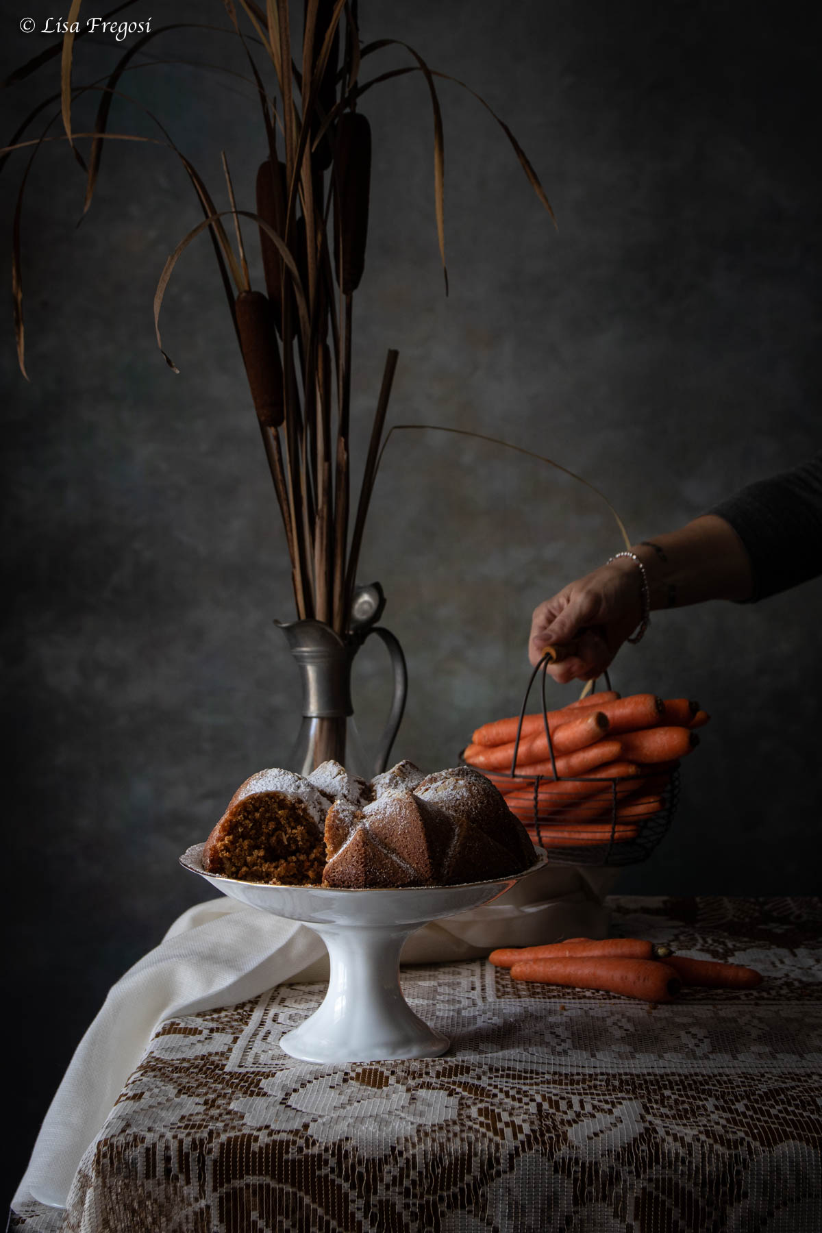 torta di carote speziata, carrot cake senza frosting