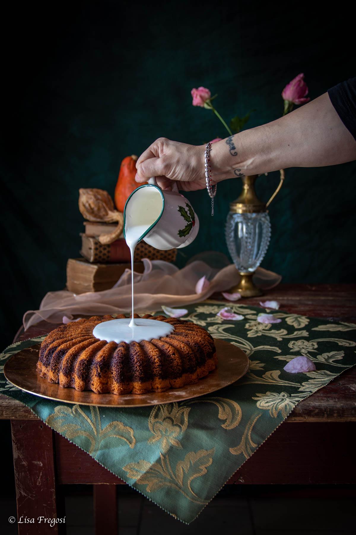 glassata della torta alla zucca e cacao