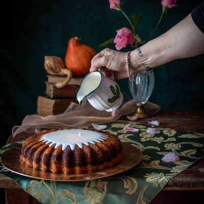 torta alla zucca variegata al cacao