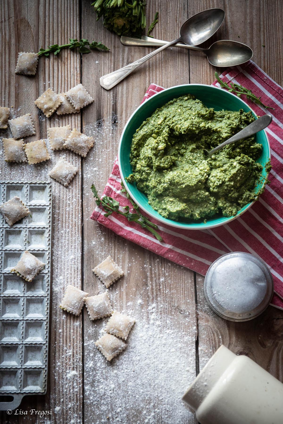 broccolo fiolaro di Creazzo la ricetta dei ravioli