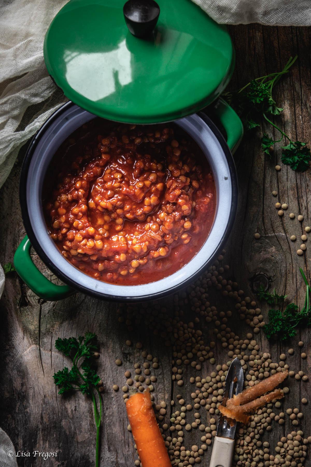 il ragù di lenticchie, come si cucina