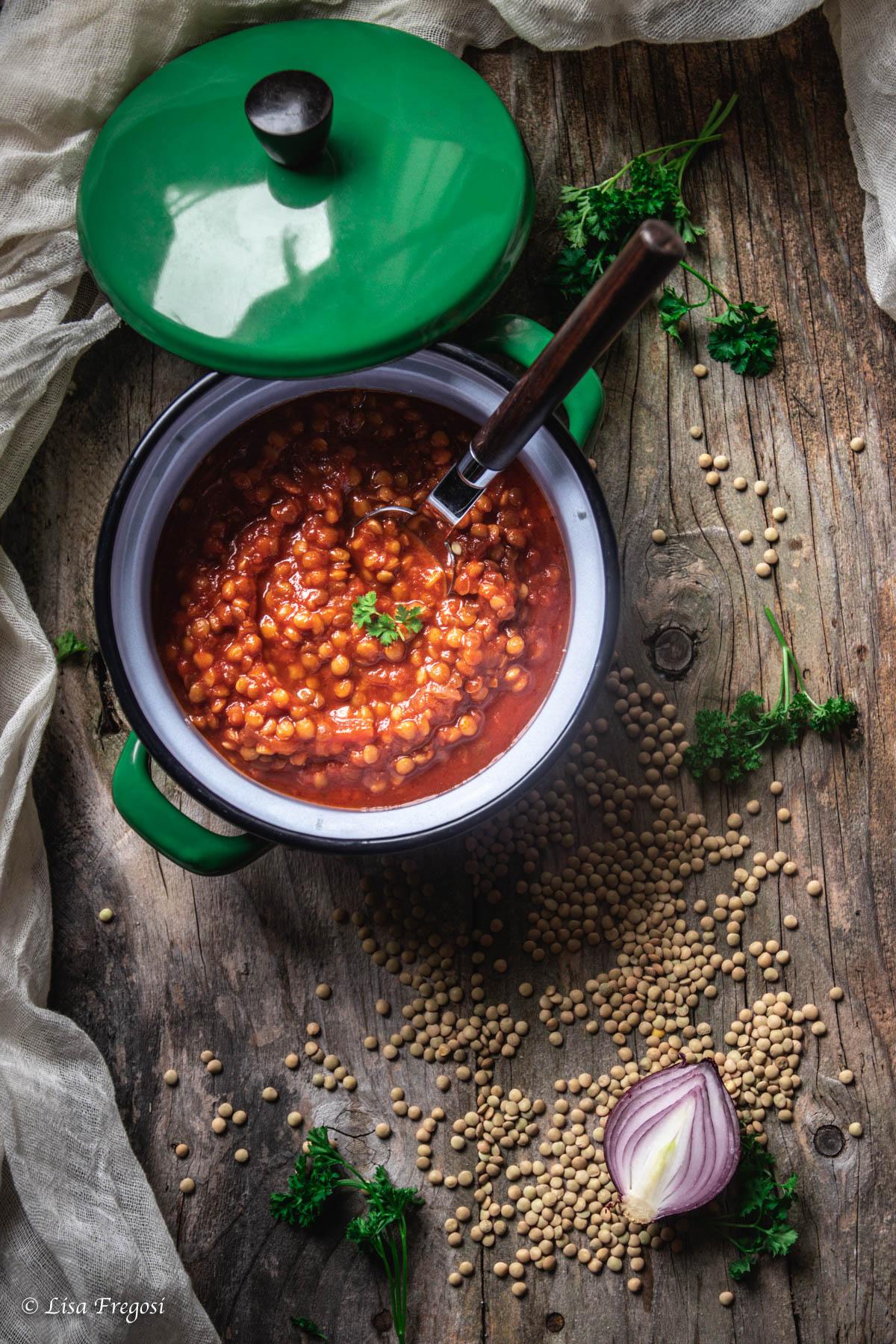 ragù lenticchie o zuppa di lenticchie