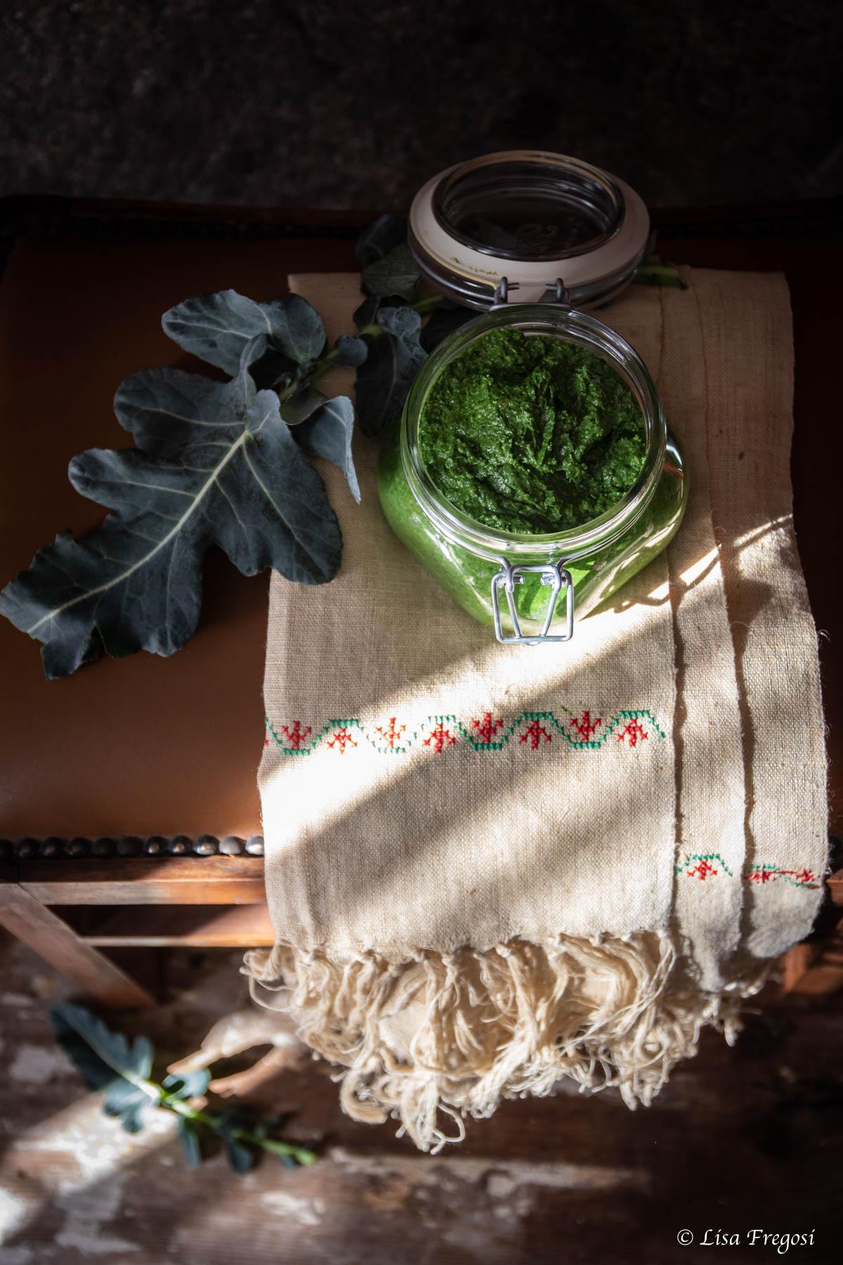 ricette con il pesto di broccolo fiolaro di Creazzo