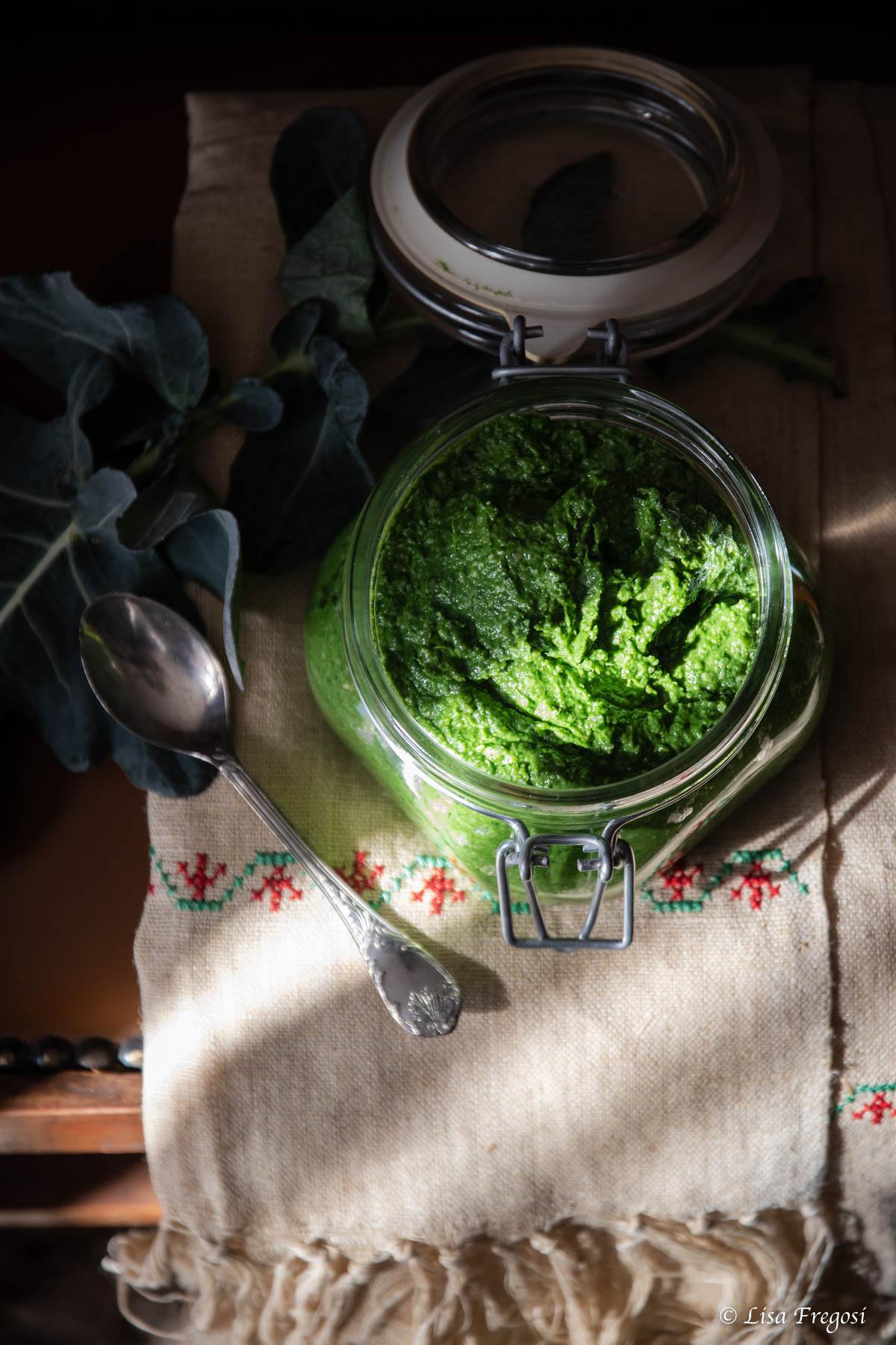 il pesto di broccolo fiolaro di Creazzo