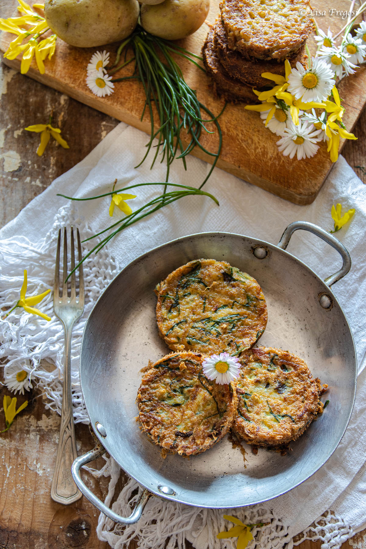 Rosti di patate con uovo