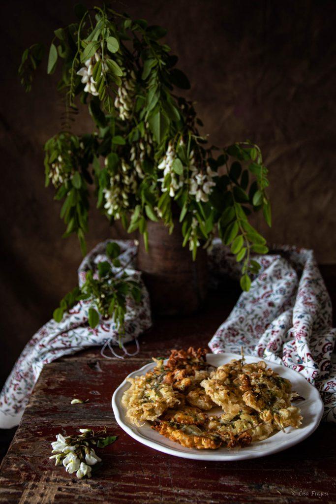 fiori di acacia in tempura,