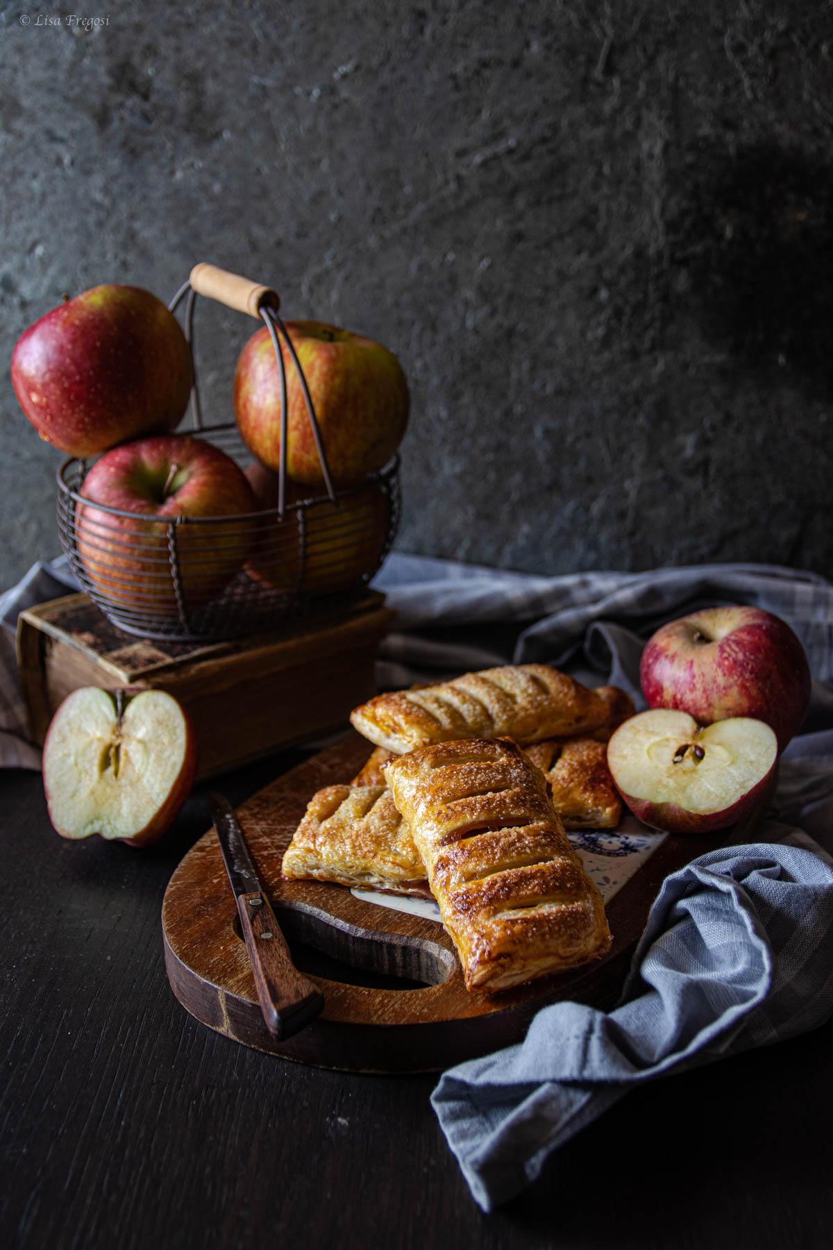 sfogliatine di mele con finta pasta sfoglia