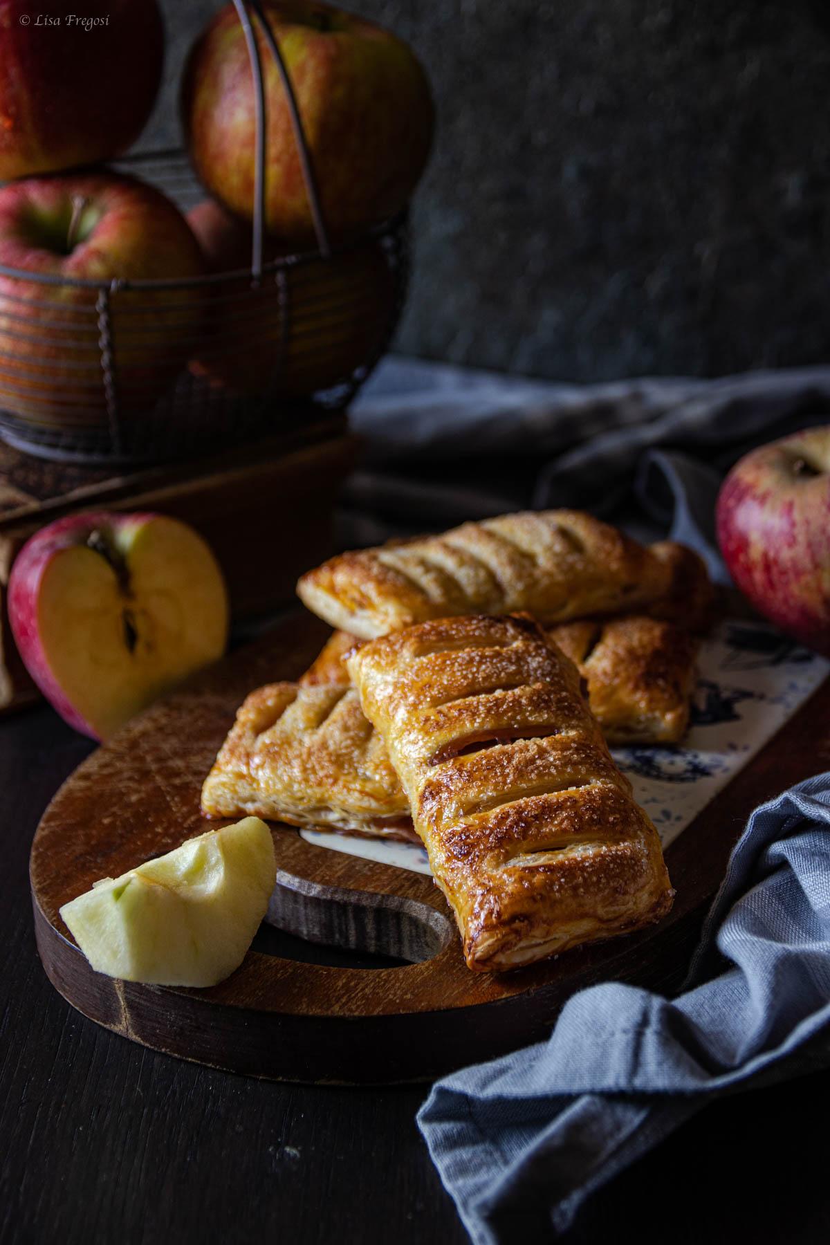 la ricetta delle sfogliatine finta sfoglia con mele