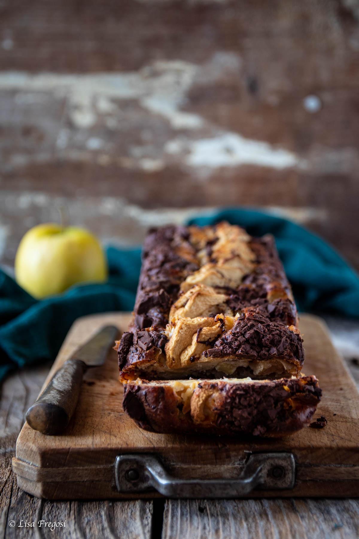 torta mele cioccolato senza burro