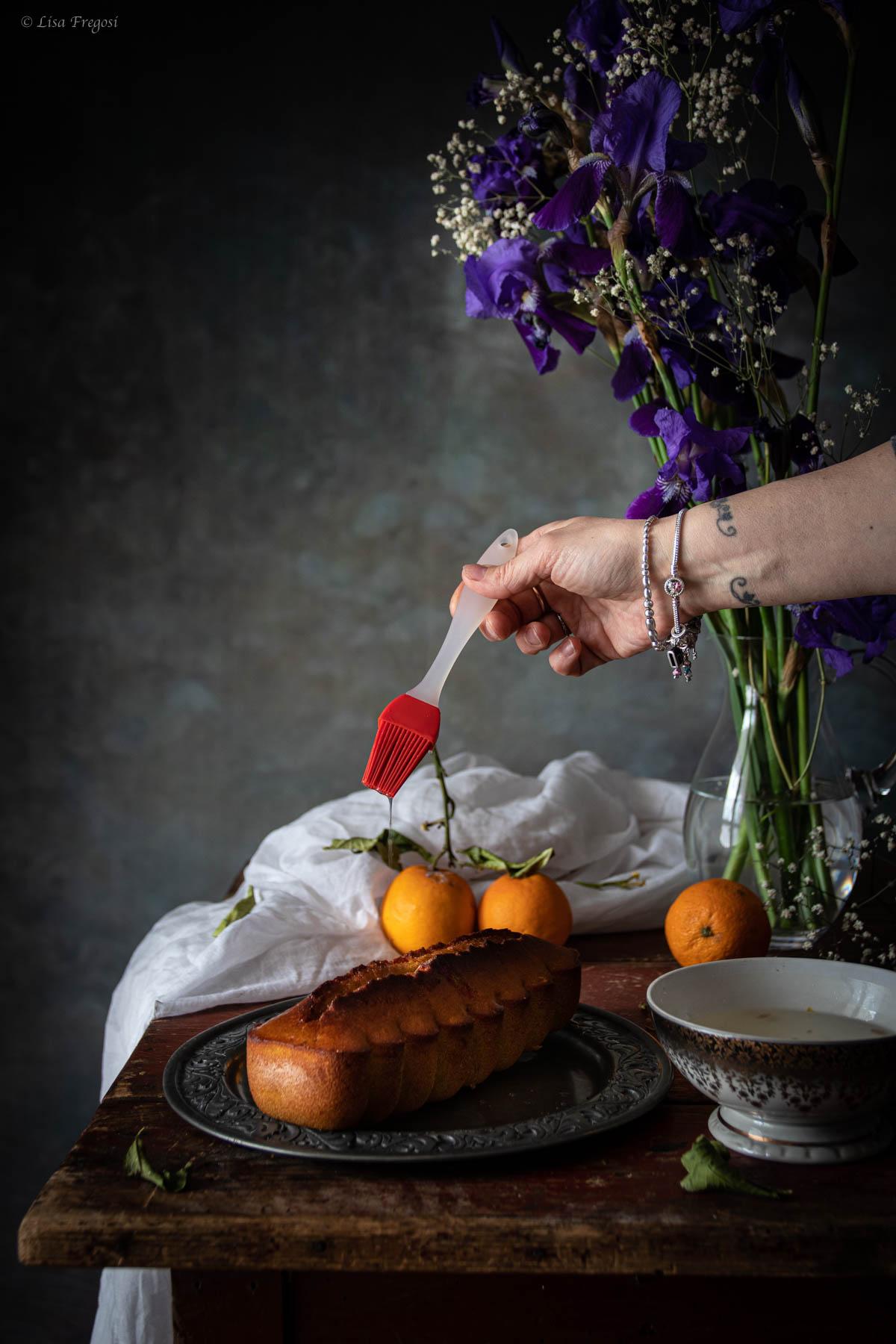 Plumcake al semolino con cocco e arance