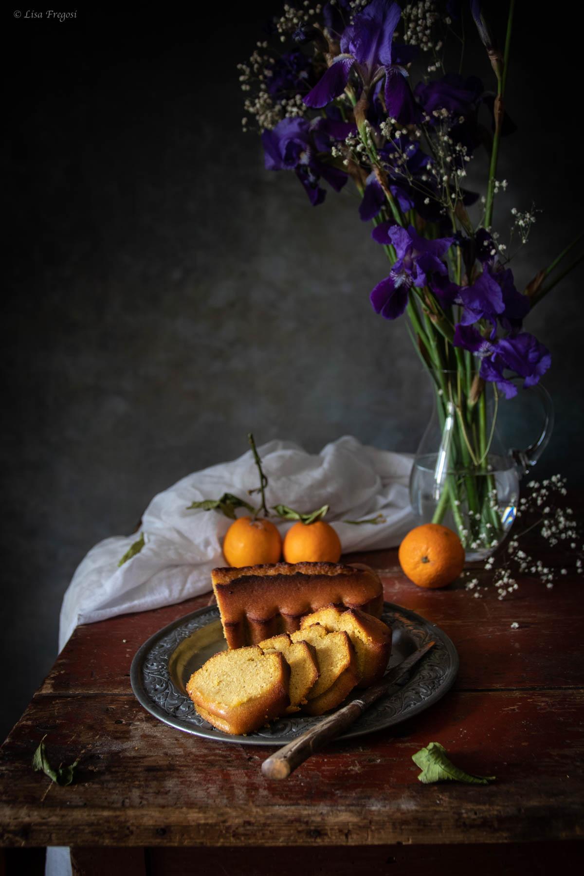 Plumcake di semolino con cocco e marmellata di arance