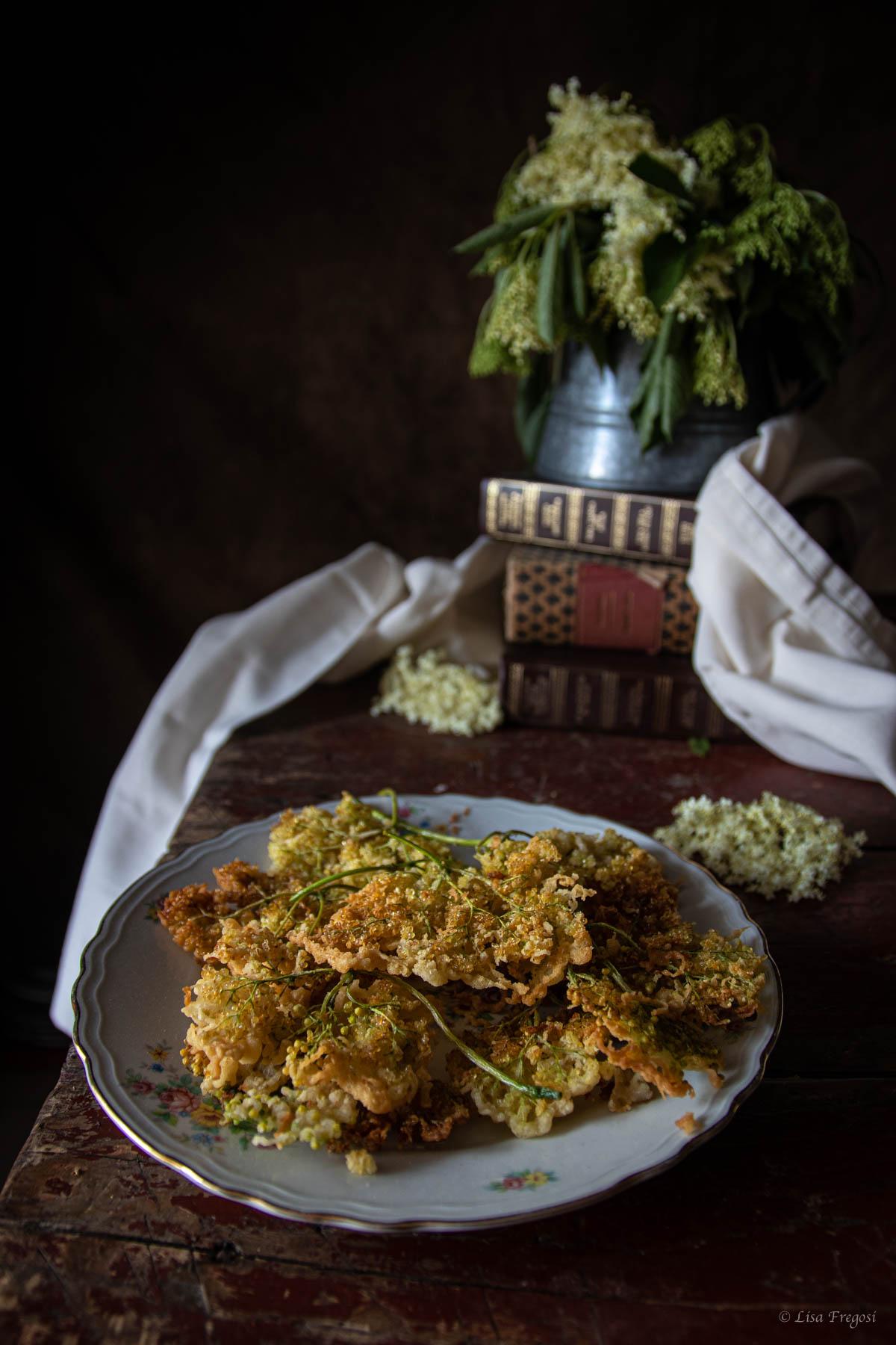 fiori di sambuco in pastella