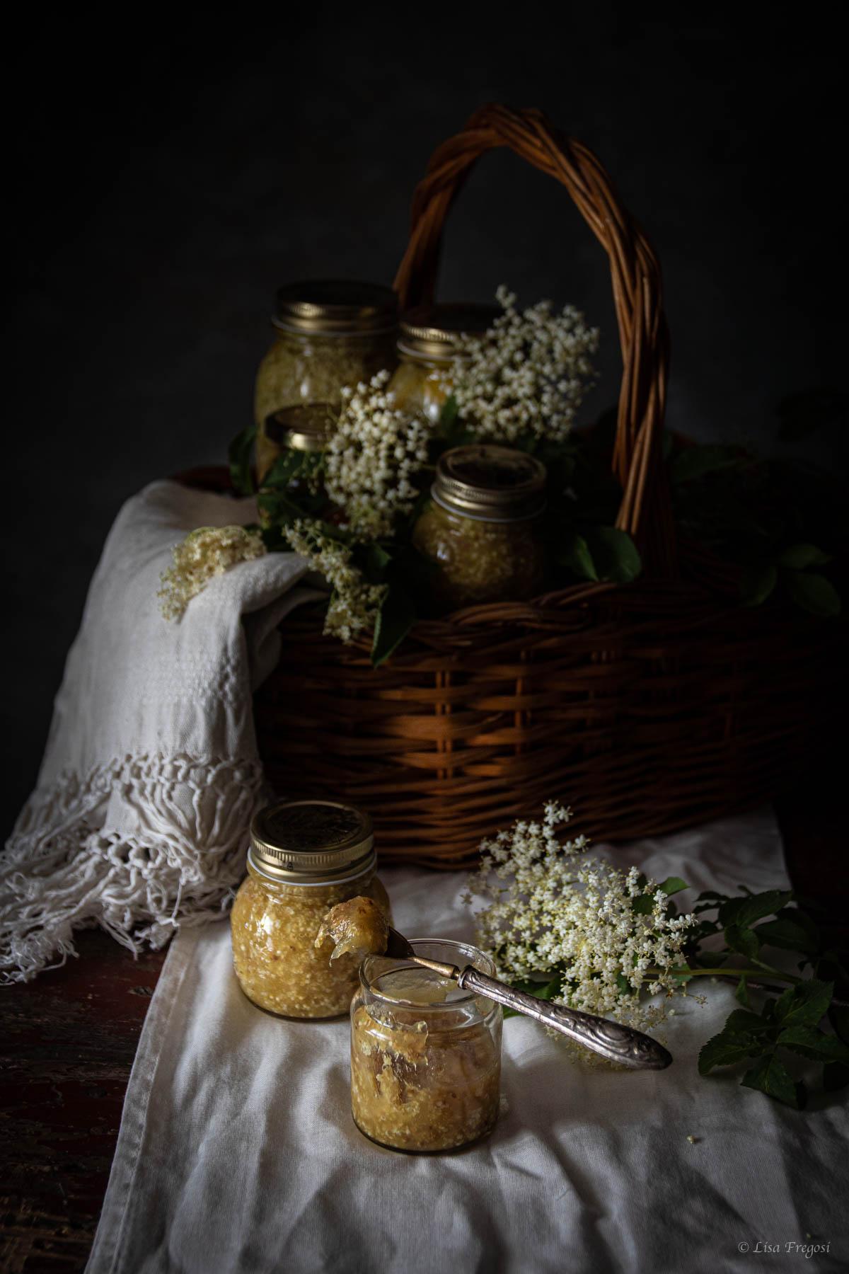 marmellata di fiori di sambuco foto