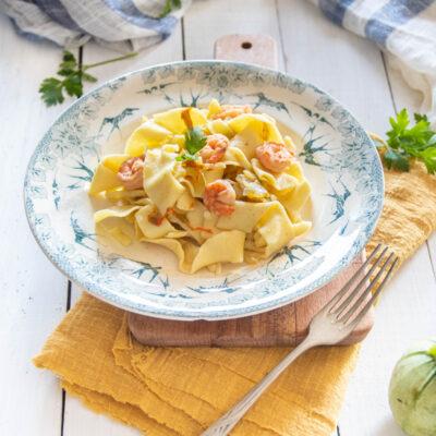 pasta zucchine e gamberi