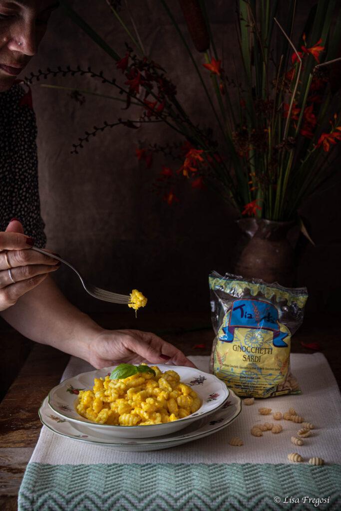 malloreddus al pecorino e zafferano