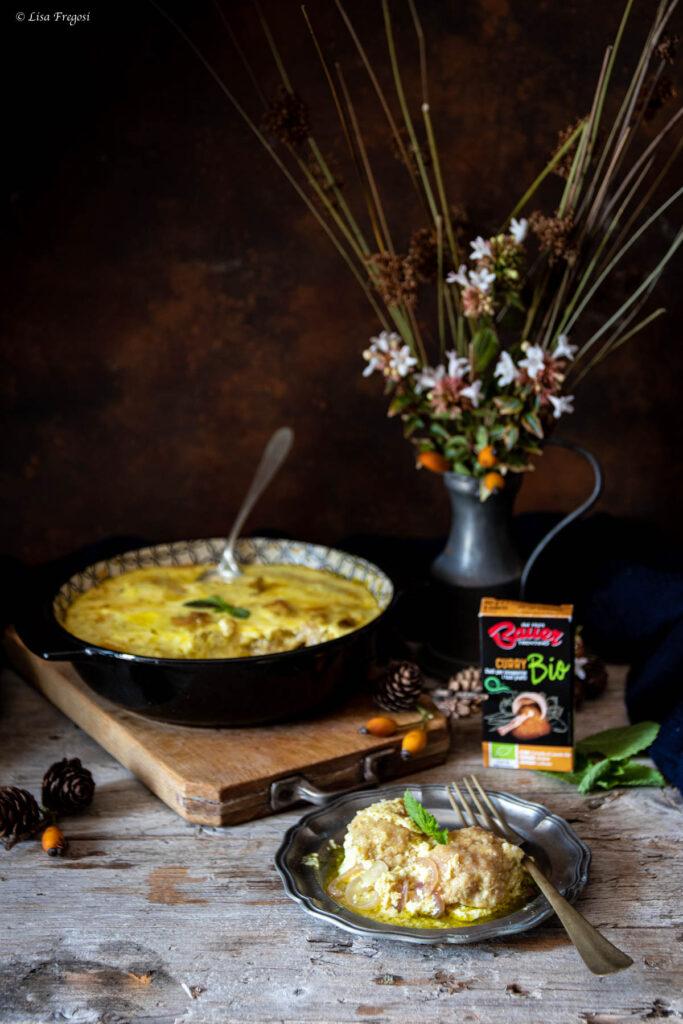 polpette pollo al curry