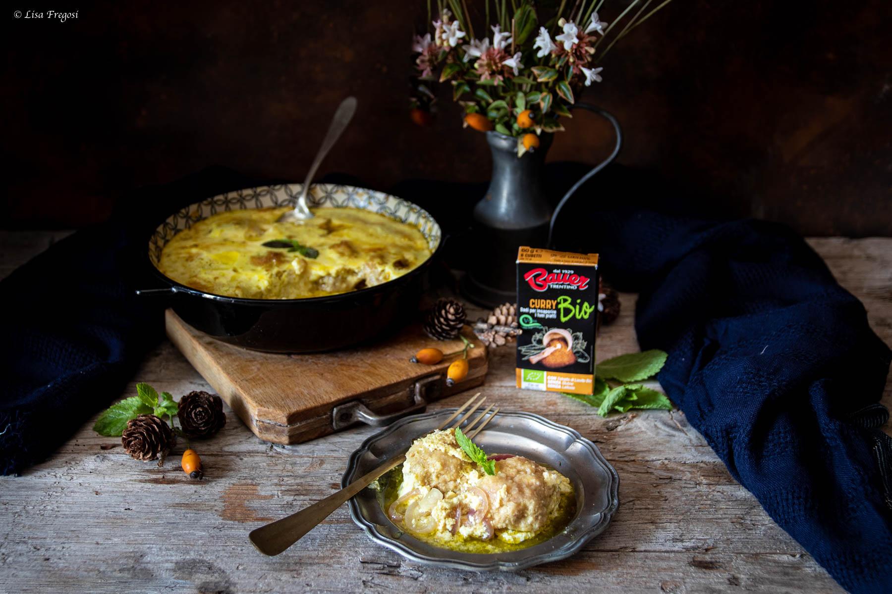 La ricetta delle polpette di pollo al curry e crema yogurt